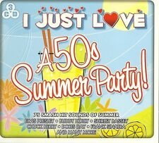 I JUST LOVE A 50s SUMMER PARTY - 3 CD BOX SET - BUDDY HOLLY & MORE