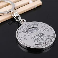 Perpetual Unique Compass Keychain 50 Years Calendar Keyring Keyfob