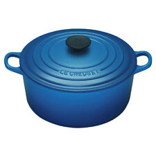 """LE CREUSET 7 1/4 QT SIGNATURE ROUND FRENCH OVEN COBALT  """"NEW FACTORY SEALED"""""""