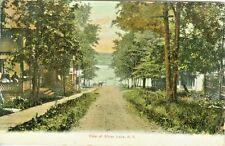 Silver Lake NY 1906 Walkway and Road to Silver Lake