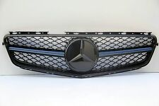 08-14 MERCEDES C CLASS W204 C300 SEDAN C63 LOOK GRILL SHINY BLACK INCL OEM STAR