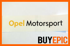 Opel Motorsport Aufkleber 150mm x 25mm Sticker, Corsa, Astra, 16V, Turbo, OPC