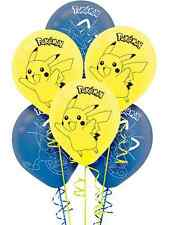 Pokemon Pikachu & Friends Latex Balloons Birthday Decorations Party Supplies-6ct