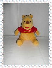 Peluche Winnie L'ourson Assis T-shirt Rouge  Abeille Disney