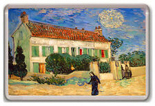 VINCENT VAN GOGH - WHITE HOUSE AT NIGHT 1890 FRIDGE MAGNET IMAN NEVERA