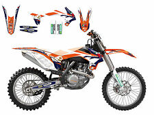 KTM 125 EXC 125EXC EXC125 2014 2015 Marchetti Sticker Kit Graphics & Seat Cover