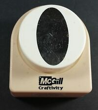 "McGill Craftivity OVAL PUNCH 2-1/4"" Button Style"