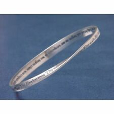 Lords Prayer KJV Bracelet Bangle Inspirational Message STERLING SILVER Faith