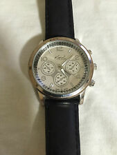 Kim Rogers Silver Tone Case Quartz Watch
