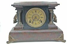 Antique Welch Mantle Clock for parts or repair