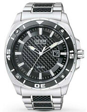 Citizen Mens Stainless Steel Eco-Drive Solar Power Watch. Look Smart. AW1090-58E