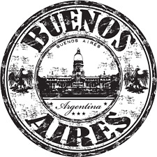 "Buenos Aires City Argentina Travel Car Bumper Sticker Decal 5"" x 5"""