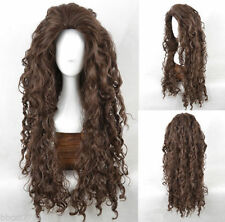 Harry Potter Bellatrix scroll small brown wavy hair cosplay wig
