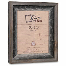 "8x10-2"" Wide Signature Reclaimed Rustic Barn Wood Picture Frame"