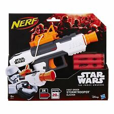 STAR WARS NERF GUN First Order Stormtrooper Blaster With Darts Disney Hasbro