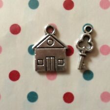 Tibetan House And Key Charm - Good Luck In Your New Home Gift