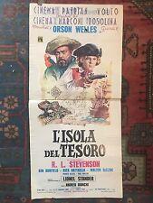LOCANDINA L'ISOLA DEL TESORO, Treasure Island, Orson Welles, Lionel Stander.