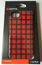 Apple Iphone 5 5S Genuine Griffin case cover hard shell back Red meshups