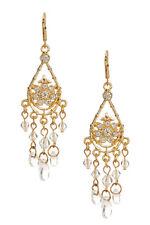 Nordstrom Rack Clear Gold Fancy Dangling Crystal Drop Chandelier Earrings 22-95