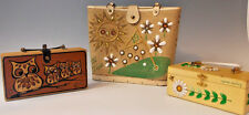 Vtg Enid Collins of Texas OWL & DAISY & TEE TIME Original Box Bag Purse Lot of 3