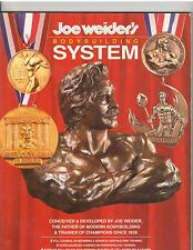 Joe Weider Bodybuilding Muscle System Booklet 1988