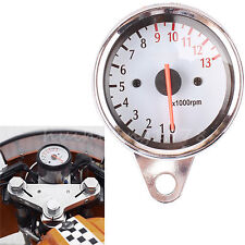 US Universal Motorcycle Scooter Tachometer Speedometer Gauge LED Light 13000RPM