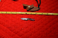 Miniature Tamboli Red Fireball Damascus Knife for your mini knife collection