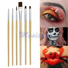 6X/1Set Face Painting Brushes Makeup Drawing Theater Costume Party Tool Kit M*