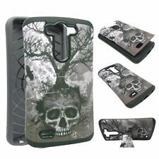 For LG G3 Mini Kickstand Hybrid Skull Tree Hard Soft Cover Case