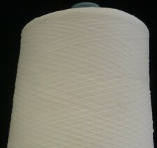 RIBBON 55% NYLON 45% RAYON 3800 YPP LACE WEIGHT CONE YARN 14 LBS WHITE (N6)