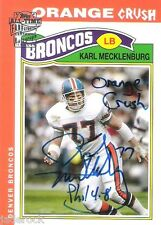 Karl Mecklenburg 2004 Topps All Time Fan Favorites Auto graph Orange Crush 1/10