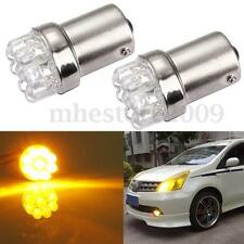 2x Ba15S 1156 382 9 LED Yellow/Amber Tail Brake Turn Signal Bulb Lamp Light P21W