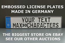 German License Plate Euro European Number Plate Custom Text in Two Lines