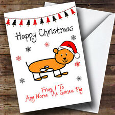 From Or To The Guinea Pig Pet Personalised Christmas Card