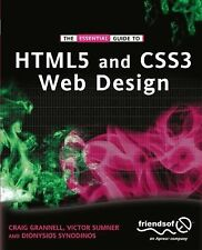 The Essential Guide to HTML5 and CSS3 Web Design by Dionysios Synodinos,...