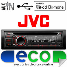 JVC CD MP3 AUX In USB Car Stereo Radio iPod's iPhone Player SWC Ready Face OFF