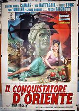 manifesto 4F film IL CONQUISTATORE D'ORIENTE Gianna Maria Canale Rick Battaglia