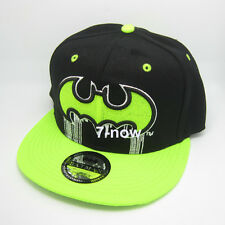 New Green Black batman hiphop Cosplay Snapback Adjustable baseball cap flat hat