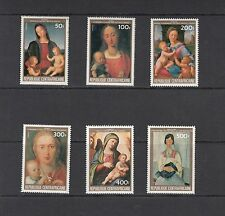 ART/PAINTINGS/MASTERS- Central Africa -1984 set of 6 (SC 650-5) -MNH-A899