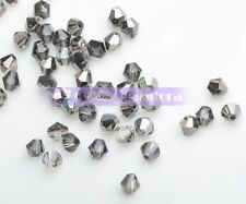 100pcs 3x2mm Wholesale Bicone Faceted Crystal Glass Charms Loose Spacer Beads