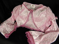 Disney Store Medium Princess Shrug long-sleeve shawl crop top jacket Pink Girl M