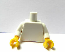 LEGO 1 Plain  Body Torso For Female Girl Boy Man  Minifigure White Yellow Hands