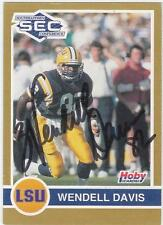 WENDELL DAVIS Autographed Signed 1991 Hoby card LSU Tigers Chicago Bears COA