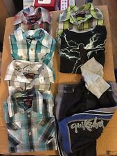 Tony Hawk Boys youth Kids used Clothing Lot L/7 Van Shoes 13 QuickSilver Shorts