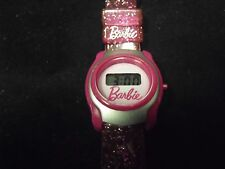 Pink Barbie Kids Watch w/ Pink Plastic Band, New Battery