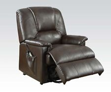 Acme Furniture 10652 Reseda Recliner W/Power Lift, Brown NEW