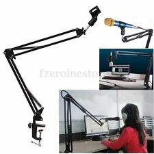 Professional Boom Adjustable Microphone Stand Record Mic Tripod Folding Holder