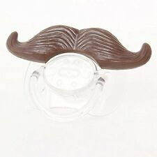 Baby Classic Gentleman Beard Mustache Baby Boy Girl Pacifier Nipples (Brown)