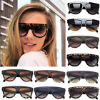 Inspired Flat Top Shield Tortoise Women Sunglasses KIM K Celebrity 8 Color