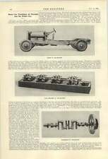 1921 Chassis Of The Leyland Eight Crankshaft Valve Mechanism